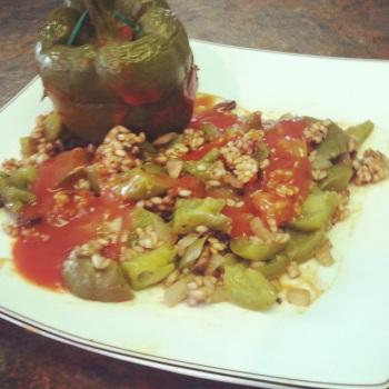 Low-Protein, Portabella Stuffed Peppers, PKU Recipes, Low-Protein Recipes
