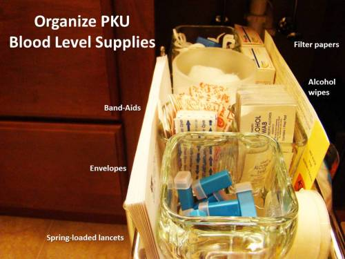 Organizing PKU Blood Level Supplies