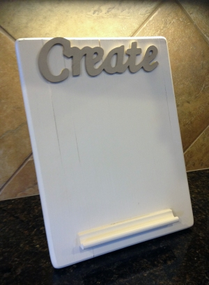 DIY kitchen tablet holder for PKU recipes