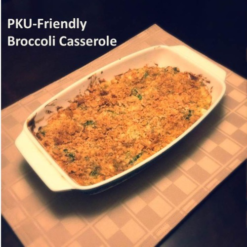 PKU-Friendly Broccoli Casserole
