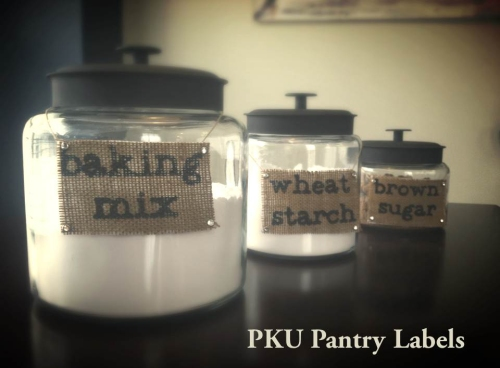At-a-glance PKU Pantry Labels