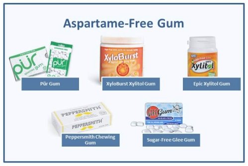 aspartame-free gum, PKU-friendly gum